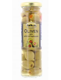 Iska Oliven grün gefüllt mit Paprikapaste  (85 g) - 8410016005869