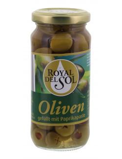 Royal del Sol Grüne Oliven gefüllt mit Paprikapaste  (135 g) - 4002239447300