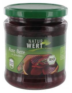 NaturWert Bio Rote Bete in Scheiben  (220 g) - 4009309452776