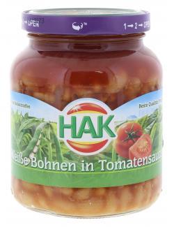 Hak Weiße Bohnen in Tomatensauce  (400 g) - 8720600136108