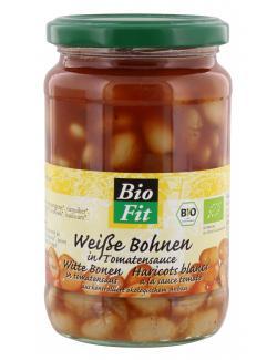 Bio Fit Weiße Bohnen in Tomatensauce  (350 g) - 4009309554623