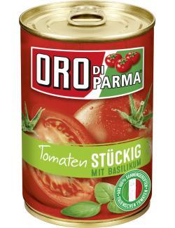 Oro di Parma Tomaten stückig mit Basilikum  (400 g) - 4008100168244