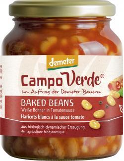 Demeter Campo Verde Weiße Bohnen in Tomatensoße  (350 g) - 4045178005491
