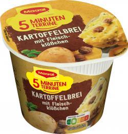 Maggi 5 Minuten Terrine Kartoffelbrei mit Fleischklößchen  (49 g) - 4005500328056
