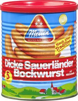 Metten Dicke Sauerländer Bockwurst  (5 x 80 g) - 4008401610152