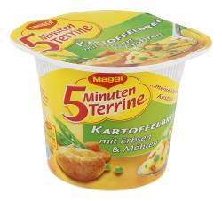 Maggi 5 Minuten Terrine Kartoffelbrei mit Erbsen & Möhren  (43 g) - 7613031713653