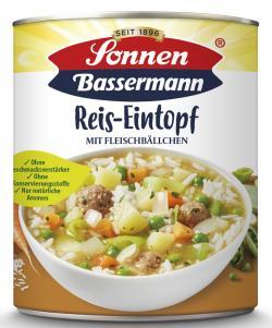 Sonnen Bassermann Reistopf mit Fleischbällchen  (800 g) - 4002473991355