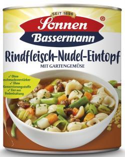Sonnen Bassermann Rindfleisch Nudeltopf mit grünen Bohnen  (800 g) - 4002473964359
