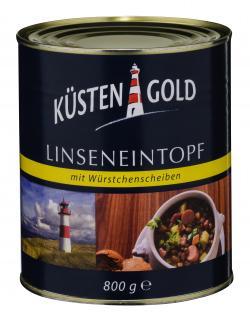 Küstengold Linseneintopf mit Würstchenscheiben  (800 g) - 4250426204599