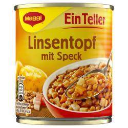 Maggi Ein Teller Linsentopf mit Speck  (330 g) - 4005500327400