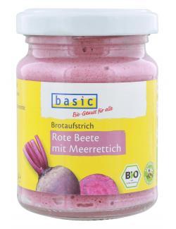 Basic Brotaufstrich Rote Bete mit Meerrettich  (125 g) - 4032914592087