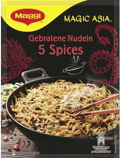 Maggi Magic Asia Gebratene Nudeln 5 Spices mit Rindfleisch  (135 g) - 7613034254115