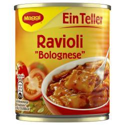 Maggi Ein Teller Ravioli Bolognese  (340 g) - 4005500326502