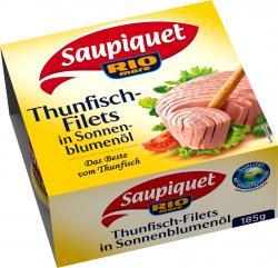 Saupiquet Thunfischfilets in Sonnenblumenöl  (130 g) - 3165955844011