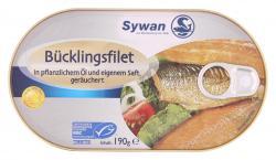 Sywan Bücklingsfilet in Pflanzenöl und eigenem Saft  (190 g) - 4013712272500