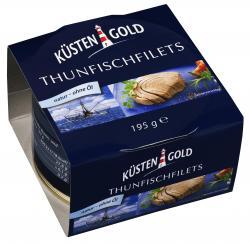 Küstengold Thunfischfilets natur - ohne Öl  (150 g) - 4250426208276