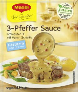 Maggi Für Genießer 3-Pfeffer-Sauce fettarm  (33 g) - 7613031293469