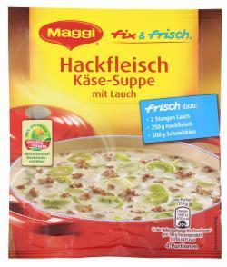 Maggi fix & frisch Hackfleisch Käse-Suppe mit Lauch  (46 g) - 7613032627768