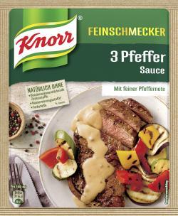 Knorr Feinschmecker 3 Pfeffer Sauce  (250 ml) - 4038700114044