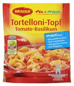 Maggi fix & frisch Tortellini-Topf Tomate-Basilikum  (36 g) - 7613033309588