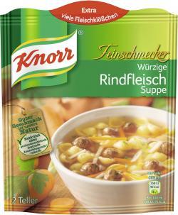 Knorr Feinschmecker Würzige Rindfleisch Suppe  - 8712100405204