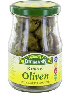 Feinkost Dittmann Kräuter-Oliven trocken eingelegt  (170 g) - 4002239403009