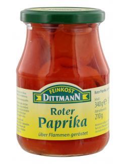 Feinkost Dittmann Paprika rot geröstet  (210 g) - 4002239614801