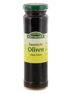 Feinkost Dittmann Spanische geschwärzte Oliven ohne Stein  (60 g) - 4002239418300