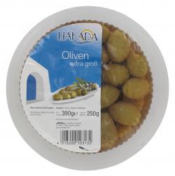 Liakada Grüne Oliven extra groß  (250 g) - 4013200103132
