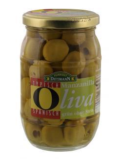 Feinkost Dittmann Manzanilla Oliven grün ohne Stein  (175 g) - 4002239424202