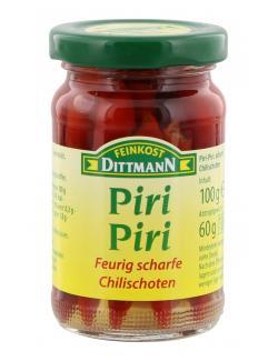Feinkost Dittmann Piri-Piri rote Chili-Schoten  (60 g) - 4002239632003