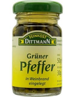 Feinkost Dittmann Grüner Pfeffer in Cognac  (50 ml) - 4002239380706