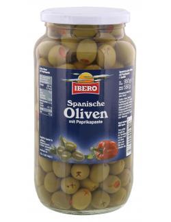 Ibero Spanische grüne Oliven mit Paprikapaste  (550 g) - 4013200555375