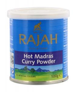 Rajah Hot Madras Curry Powder  (100 g) - 5010928055087