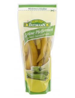 Feinkost Dittmann Grüne Pfefferonen scharf  (200 g) - 4002239854108