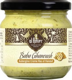Al Amier Baba Ghanoush Auberginencreme Ras el Hanout  (180 g) - 4013200389024