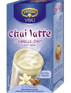 Krüger Chai Latte classic India Vanille-Zimt  (10 x 25 g) - 4052700079097