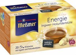 Meßmer Energie Ingwer-Holunderblüte  (20 x 2 g) - 4002221011298