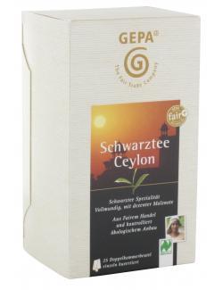 Gepa Bio Schwarztee Ceylon  (25 x 2 g) - 4013320206812