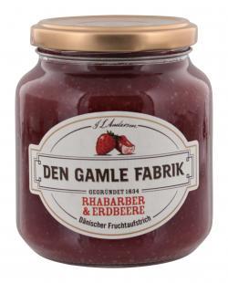 Den Gamle Fabrik Rhabarber&Erdbeere Fruchtaufstrich  (380 g) - 5701211012404