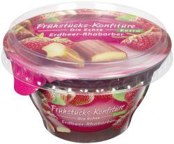 Zentis Frühstücks-Konfitüre die Echte Extra Erdbeer-Rhabarber  (200 g) - 4002575327472
