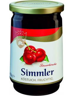 Simmler Sauerkirsch-Konfitüre extra  (450 g) - 4008191011108