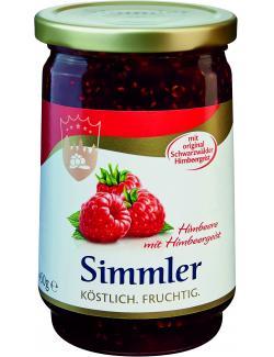 Simmler Himbeer-Konfitüre extra mit Himbeergeist  (450 g) - 4008191007101