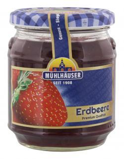 Mühlhäuser Konfitüre Erdbeere  (340 g) - 4026701020105