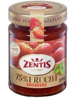 Zentis 75% Frucht Erdbeere  (270 g) - 4002575514735