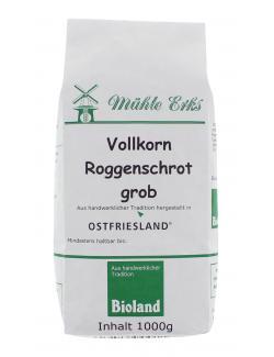 Mühle Erks Bioland Vollkorn Roggenschrot grob  (1 kg) - 4038269001168