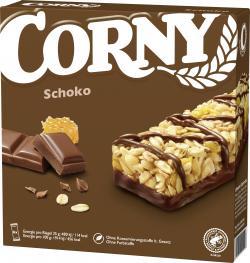 Corny Müsli Riegel Schoko  (6 x 25 g) - 4011800521219
