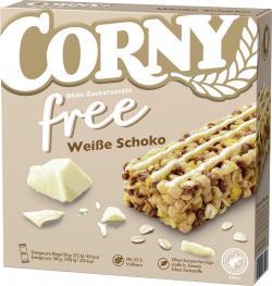 Corny Müsli-Riegel Free Weiße Schokolade  (6 x 20 g) - 4011800575212