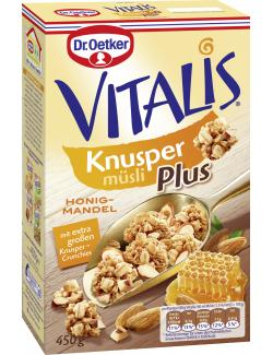 Dr. Oetker Vitalis Knusper Plus Honig-Mandel Müsli  (450 g) - 4000521004583