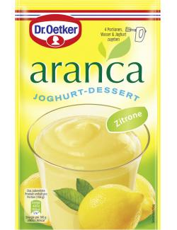 Dr. Oetker Aranca Joghurt-Dessert Zitrone  (75 g) - 4000521453336